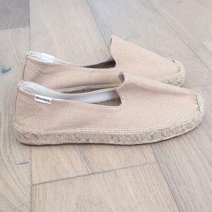 Soludos platform espadrille smoking loafer